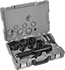 Stud-Driven Hole Punch Sets with Straight Hydraulic Driver