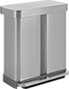Dual Compartment Step-Open Waste and Recycling Containers