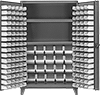 Extra Heavy Duty Bin-Box Cabinets with Shelves