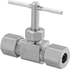 Precision Flow-Adjustment Valves with Compression Fittings