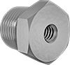 Inch-to-NPT Male-Female Hex Thread Adapters with Through Hole