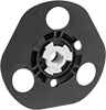 See-Through Backup Pads for Arbor-Mount Sanding Discs