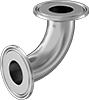 Extra-High-Polish Metal Quick-Clamp Sanitary Tube Fittings