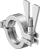 Clamps for Extra-High-Polish Metal Quick-Clamp Sanitary Tube Fittings