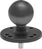 Ball-Grip Head Adapters for Adjustable-Height Positioning Stands