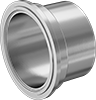 High-Polish Metal Quick-Clamp Sanitary Tube Fittings