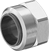 Nuts with Built-In Sleeve for Quick-Assembly Brass Compression Tube Fittings for Air and Water