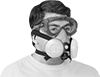 Respirator-Fit Safety Goggles