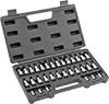 Hex, Torx, Phillips, and Slotted Bit Socket Assortments