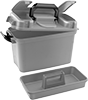 Watertight Storage Boxes with Removable Tote Tray