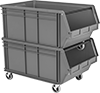 Mobile Stackable Plastic Bin Boxes
