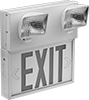 Backlit Exit Signs with Emergency Lights