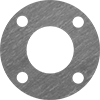 High-Temperature Graphite/Buna-N Pipe Gaskets with Bolt Holes