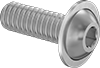 Metric 18-8 Stainless Steel Flanged Button Head Screws